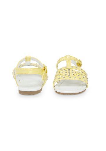 Mothercare | Girls T-Bar Sandals - Lemon