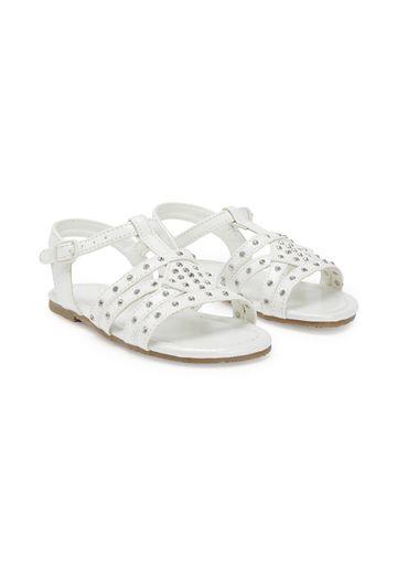 Mothercare | Girls T-Bar Sandals - White