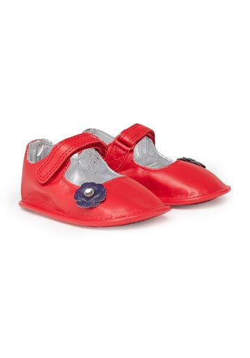 Mothercare | Girls Flower Bar Shoes  - Red