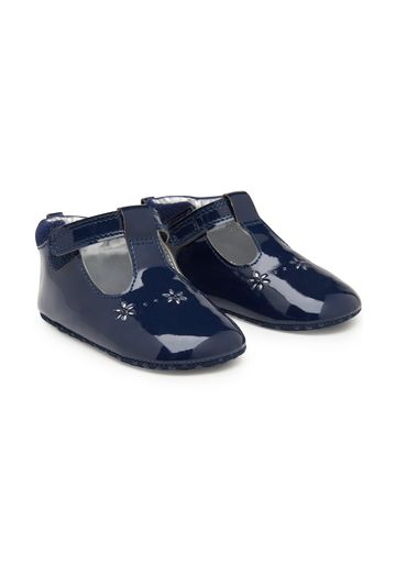 Mothercare   Girls Cut Out Shoes - Navy