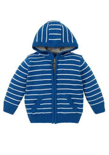 Mothercare   Boys Full Sleeves Hooded Cardigan Striped - Blue