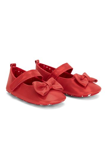 Mothercare | Girls Bow Party Shoes - Red