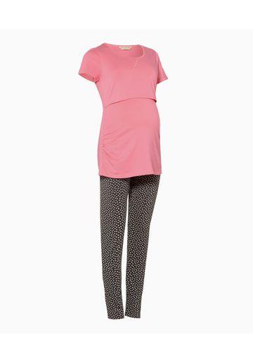 Mothercare | Women Half Sleeves Maternity Pyjama Set Printed - Pink