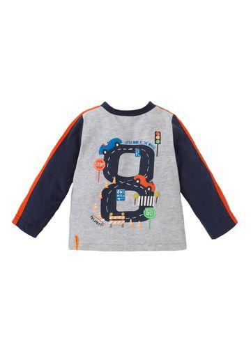Mothercare | Boys Full Sleeves T-Shirt Race Track Print - Grey
