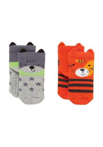 Mothercare | Boys Socks 3D Details - Pack Of 2 - Multicolor