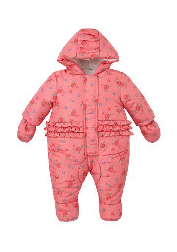 Mothercare | Girls Floral Snowsuit - Pink
