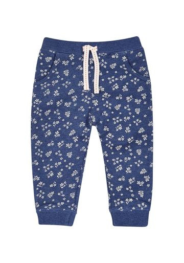 Mothercare | Girls Ribwaist Floral Brushback Joggers