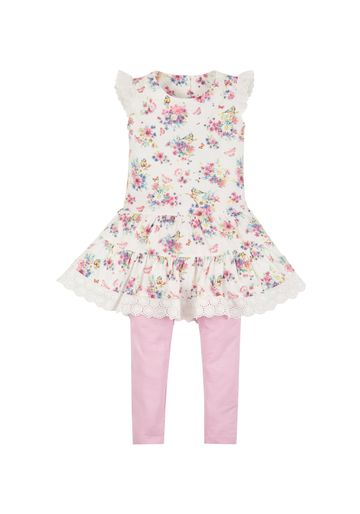 Mothercare | Girls Floral Dress And Leggings Set