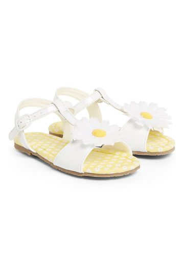 Mothercare | Girls Daisy Sandals - White