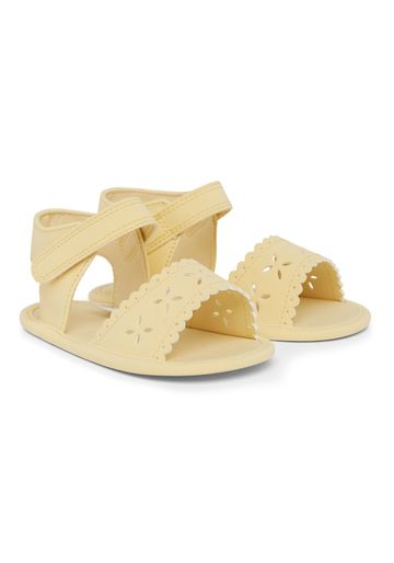 Mothercare | Girls Cut Out Flower Sandals - Yellow