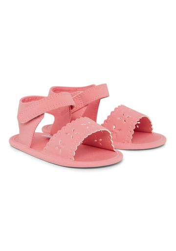 Mothercare | Girls Cut Out Flower Sandals - Pink