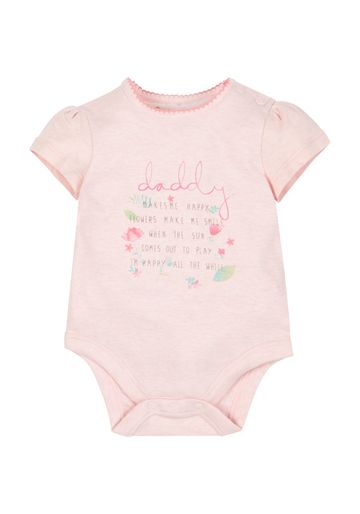 Mothercare   Girls Daddy Makes Me Happy Bodysuit - Pink