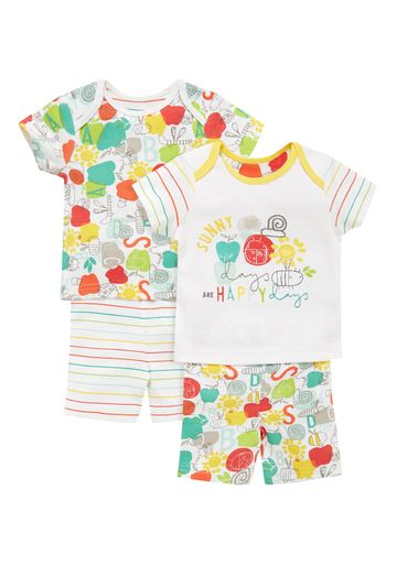 Mothercare | Unisex Happy Bug Pyjamas - Pack Of 2 - Multicolor