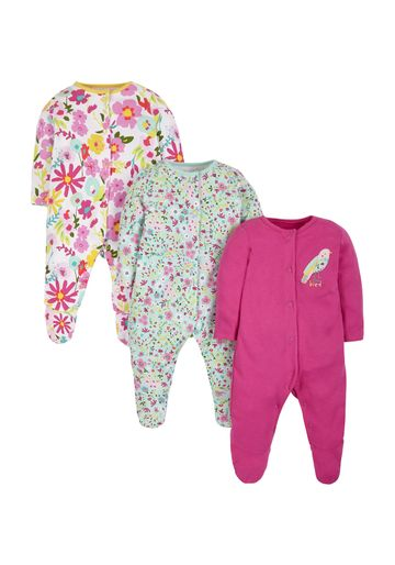 Mothercare | Girls Tropical Sleepsuits - 3 Pack - Multicolor