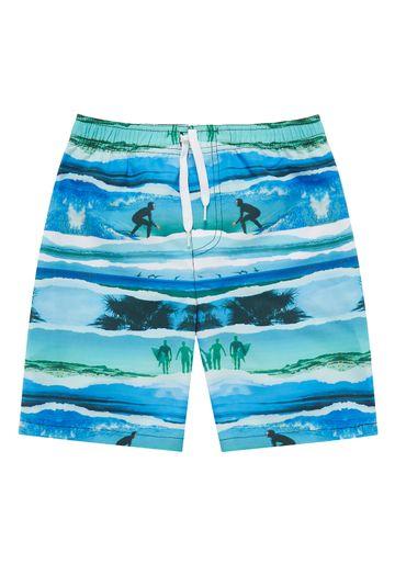 Mothercare   Blue Boys Surfer Swim Shorts
