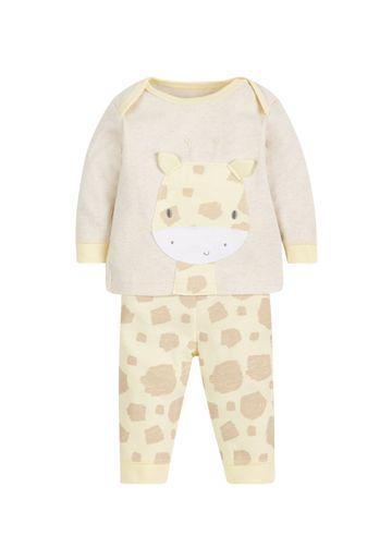 Mothercare | Unisex Full Sleeves Pyjama Set 3D Giraffe Detail - Yellow