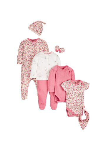 Mothercare | Girls 8 Piece Set Floral Print - Pink
