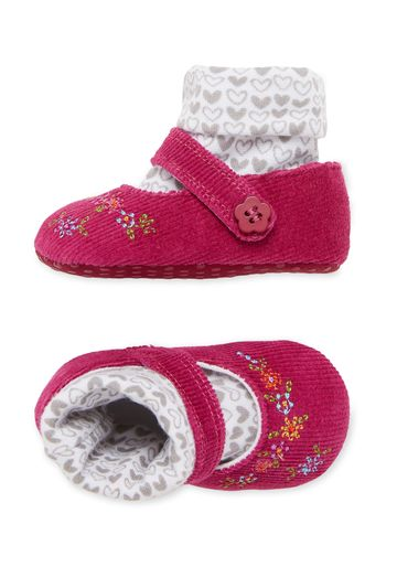 Mothercare | Girls Cord Sock Top Shoes - Navy