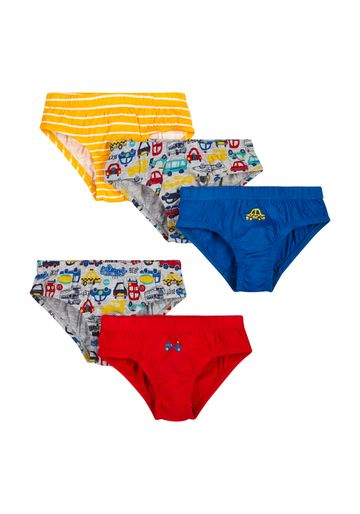Mothercare   Boys Briefs Car Print - Pack Of 5 - Multicolor