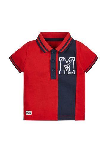 Mothercare | Boys Half Sleeves Polo T-Shirt Embroidered - Red