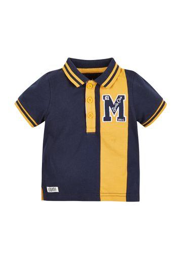 Mothercare | Boys Half Sleeves Polo T-Shirt Embroidered - Yellow