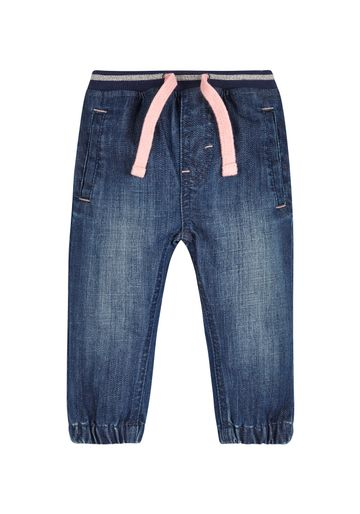 Mothercare   Girls Jeans Embroidered Pocket - Blue