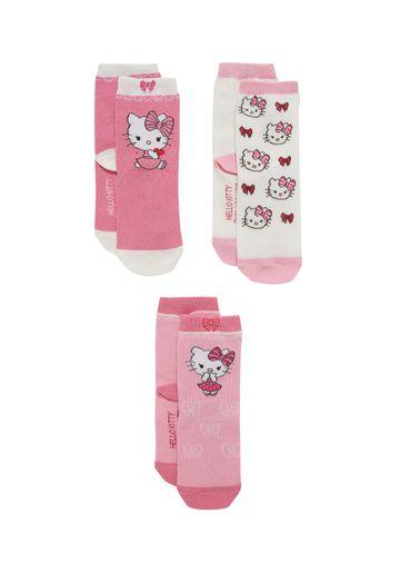 Mothercare | Girls  Socks Kitty Design - Pack Of 3 - Multicolor