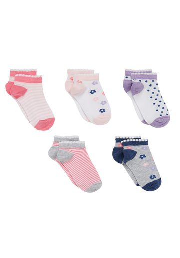 Mothercare | Girls Socks Flower Design - Pack Of 5 - Multicolor