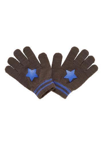 Mothercare   Boys Gloves Star Print - Grey