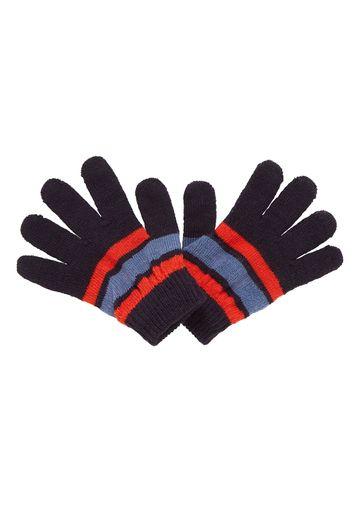Mothercare   Boys Gloves Striped - Navy