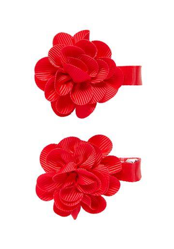 Mothercare | Girls Hair Clip Flower Detail - Red