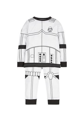 Mothercare | Boys Full Sleeves Pyjama Set Star Wars Storm Trooper Print - White