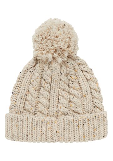 Mothercare | Boys Beanie Cable Knit - Cream