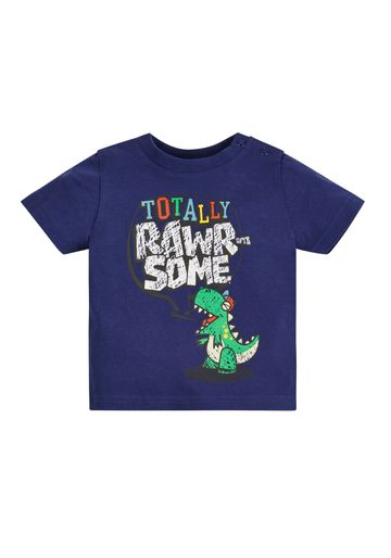 Mothercare | Boys Half Sleeves T-Shirt Dino Print - Navy