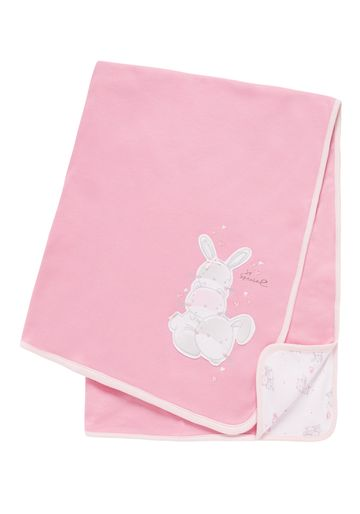 Mothercare   Girls Shawl Bunny Patchwork - Pink