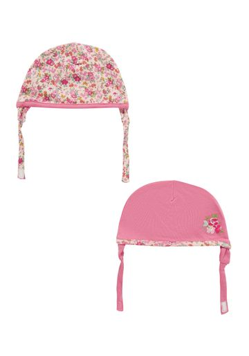 Mothercare | Girls Hat Floral Print - Pack Of 2 - Pink
