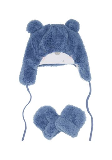 Mothercare | Boys Hat And Mitt Set 3D Details - Blue