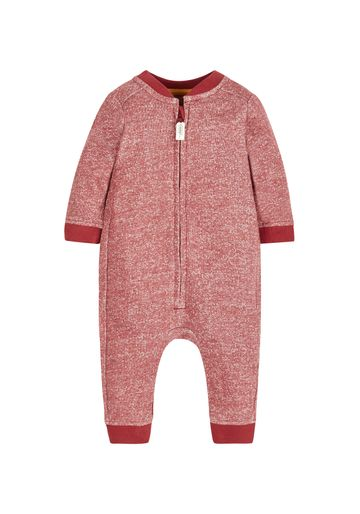 Mothercare | Boys Full Sleeves Romper Zip Opening - Red