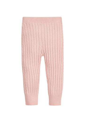Mothercare | Girls Leggings Cable Knit - Pink