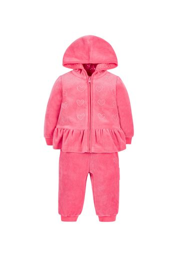 Mothercare | Girls Velour Joggers Set - Pink