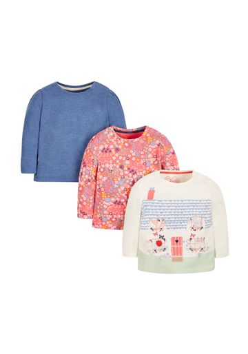 Mothercare | Girls Full Sleeves T-Shirt Printed - Pack Of 3 - Multicolor