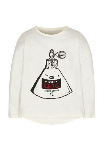 Mothercare | Girls Perfume T-Shirt - Cream
