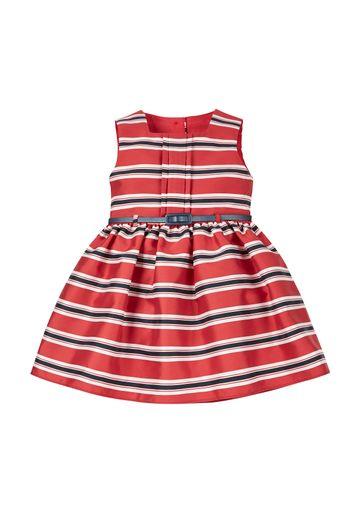 Mothercare | Girls Nautical Striped Poplin Prom Dress - Red