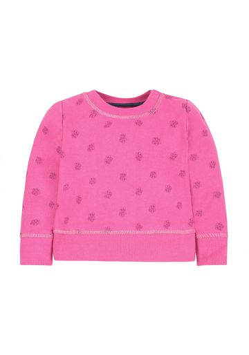 Mothercare | Girls Full Sleeves Sweatshirt Floral Print - Pink