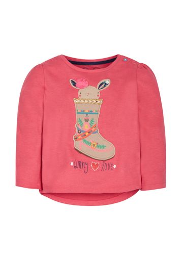 Mothercare | Girls Full Sleeves T-Shirt Boot Embroidery - Pink