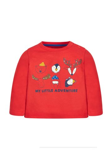 Mothercare   Boys Full Sleeves T-Shirt Animal Print - Red