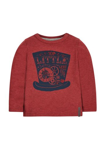Mothercare | Boys Full Sleeves T-Shirt Hat Print - Burgundy