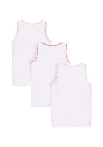 Mothercare | Girls White Vests - 3 Pack - White