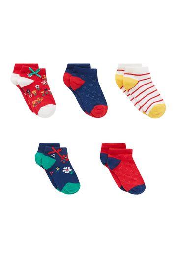 Mothercare | Girls Socks Floral Design - Pack Of 5 - Multicolor