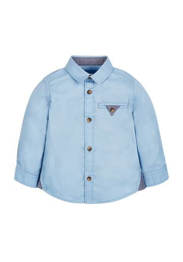 Mothercare | Boys Full Sleeves Twill Shirt - Blue